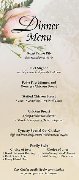 Banquet Food Menu